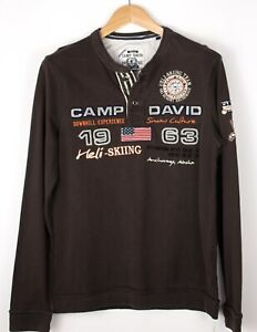 CAMP-DAVID-Men-Casual-Henley-Jumper-Sweater-Size-S-ATZ1065