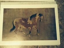 Ren Renfa 14 PRINTS Two Horses Symbols Asian Art China Yuan Yueshan Daoren