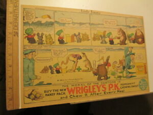 newspaper-ad-1926-WRIGLEY-039-S-chewing-gum-KFS-comic-Little-Jimmy-Swinnerton