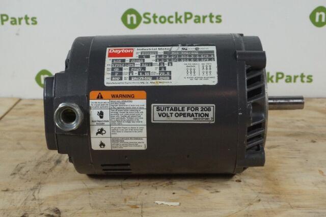 Dayton 3N028N 1hp 3ph 208 220 440 Volts Electric Motor