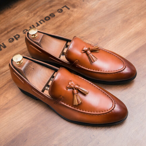 Details about  /Mens Low Top Leather Shoes Pointy Toe Oxfords Business Work Office Tassels New L