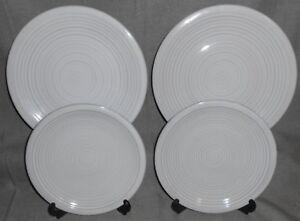 Set-4-Threshold-Stoneware-STUDIO-WHITE-PATTERN-Dinner-Salad-Plates-TARGET