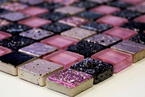 Glasmosaik piedra natural Pink Mix resin WC Bad muro cocina art:wb82-11041 maletero