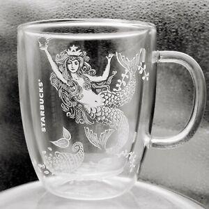 STARBUCKS-Mermaid-Cup-Large-Double-Wall-Glass-Mug-Milk-Coffee-Latte-Cappuccino
