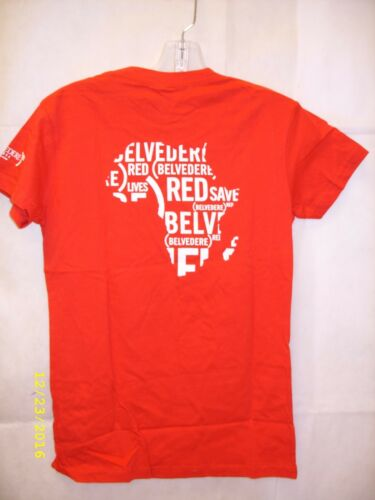 """/""""Drink Red Save Lives/"""" Promo T-Shirt NEW Special Edition Vodka Belvedere Red"""