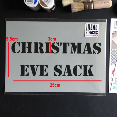 Christmas Eve Sack STENCIL Xmas Painting Decorating Stencil FAST FREE POSTAGE