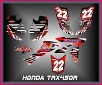 Honda Trx 450r Atv Semi Custom Graphics Kit Stripper