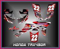 Honda Trx 450r Atv Semi Custom Graphics Kit Stripper