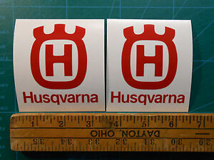 ONE-PAIR-Husqvarna-Logo-3-034-4-034-5-034-Decal-Sticker-Motorcycle-Chainsaw-Trimmer-Case