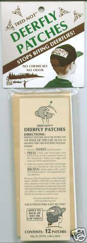 strip Deer Fly Patch repellent repellant tape 4 //pk Trednot Deerfly Patches