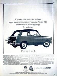 Details about Vintage Austin 'A40' Car ADVERT - 1964 Auto AD #1