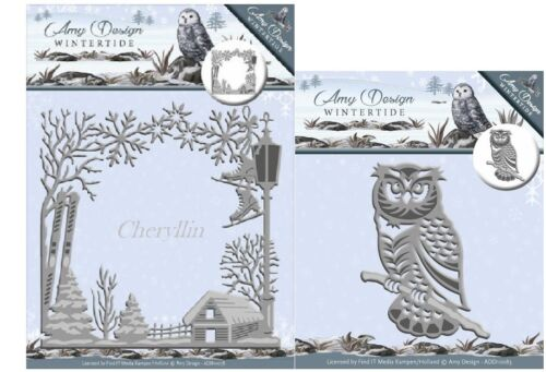 ADD10078 Amy Design Cutting /& Embossing Dies Wintertide Frame
