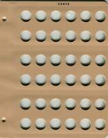 Dansco Blank Cent 36 Port Album Page 7107