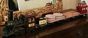 Railroad-Steam-Locomotive-Train-DENVER-RIO-GRANDE-Glazed-Ceramic-Engine-Model