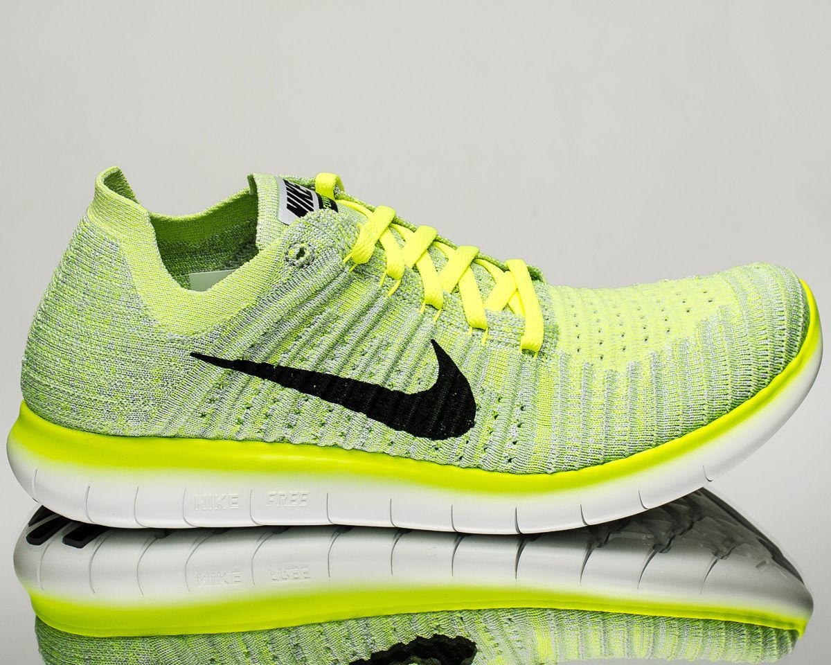 8c719fc73 Nike Free RN RN RN Flyknit men Running run shoes Pure platinum volt  831069-006 SZ 14 1eec2c