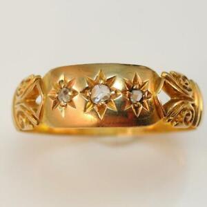 Edwardian-1906-18ct-Yellow-Gold-Diamond-Ring
