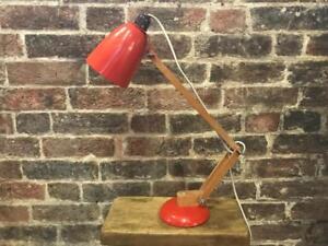 Vintage maclamp par conran habitat rétro lampe de bureau orange en