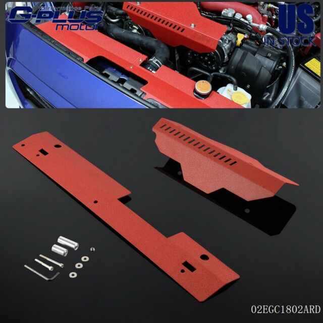 High Performance Red Radiator Shroud & Pulley/Belt Cover Combo Fit ...