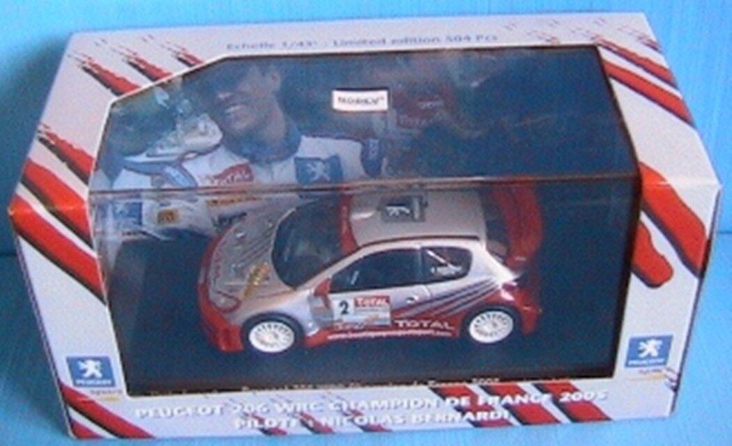PEUGEOT 206 WRC  2 CHAMPION DE FRANCE 2005 BERNARDI NOREV 1 43 RALLYE