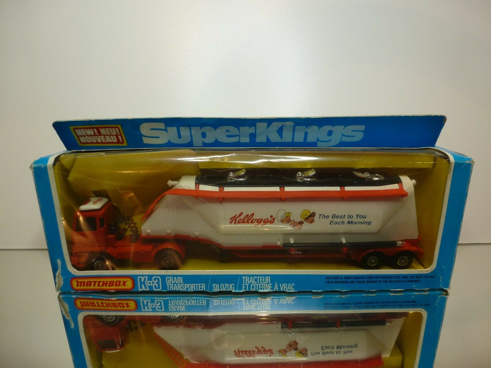 MATCHBOX K-3 BEDFORD GRAIN TRANSPORTER KELLOGG's - WHITE 1 50 - GOOD IN BOX