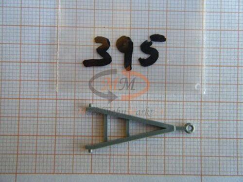 10x ALBEDO Ersatzteil Ladegut Deichsel grau für Anhänger H0 1:87-0395