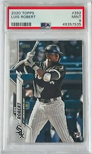 LUIS ROBERT ROOKIE 2020 TOPPS CARD #392 PSA 9 GRADED MINT CHICAGO WHITE SOX RC