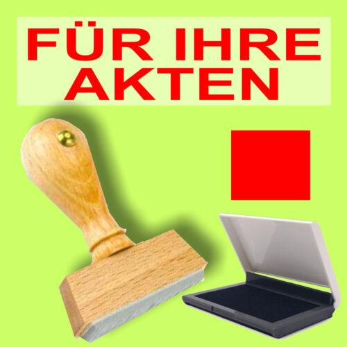 S1F Rot Holzstempel 10 x 35mm Büro Stempel FÜR IHRE AKTEN