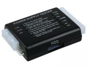 PC Computer PSU ATX Power Supply Tester 4/6/8/20/24 Pin Plug SATA Floppy Molex