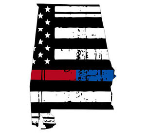 State Of Missouri Tattered Flag Decal Thin Blue//Red Line Decal Various Sizes