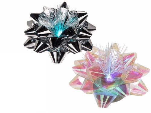 9x5 cm Kunststoff-Blume farbwechselnd Fiber Design Geschenkschleife mit LED