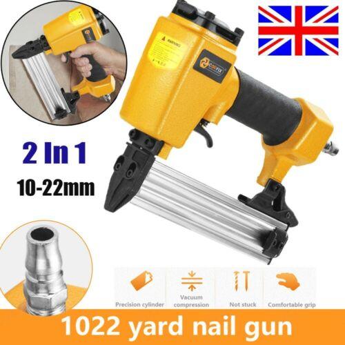Air Nail Staple Gun 10-22mm Stapler Brad Gauge Pin Compressor Kit