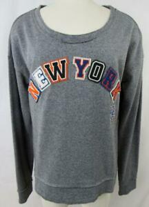 huge discount e4ae0 8953f New York Mets Womens Medium Touch Embroidered Crew Neck ...