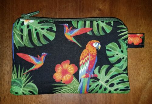 PARROT MACAW zipped pouch coin purse  free 1st class postage