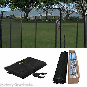 New-16-FT-Trampoline-Enclosure-Safety-Net-Fence-Round-Replacement-W-10-Poles