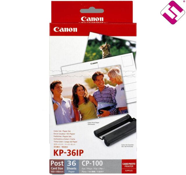 Ink Original CANON Kp 36 IP Printer CP Selphy 100 7737A001 Ah + Paper Photo