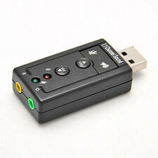 Mini USB 2.0 3D Virtual 480Mbps External 7.1 Channel Audio Sound Card Adapter MT
