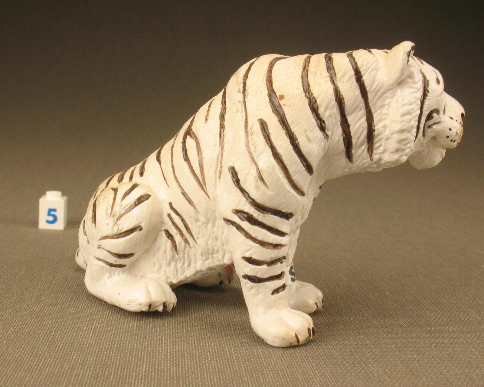 SCHLEICH 14097 - Tiger sitzend white - mit mit mit Fähnchen - White Tiger -Schleichtier 5 f22698