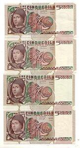Italia-5000-5-000-lire-Antonello-da-Messina-pick-105-tutte-le-4-date-FDS-UNC
