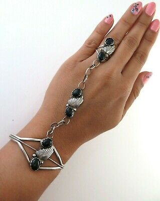 Ornate Sterling Silver And Black Onyx