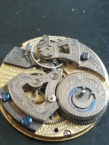 48mm Chinese Qing Dynasty Bovet Chinese Duplex Watch Movement Parts or Repair