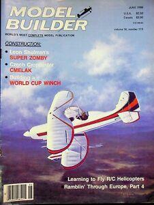 Model Builder Magazine June 1980 Super Zomby Cmelak Fly R/C Helicopter   m980