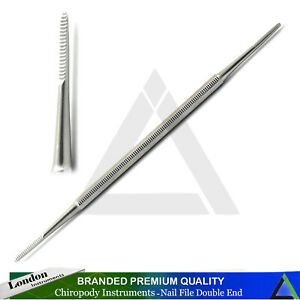 TOE-NAIL-FILE-DOUBLE-ENDED-SIDE-EDGES-Blacks-INGROWN-Chiropody-Podiatry-CE