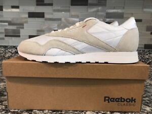 b1b854cf6054 Men s REEBOK Classics CL Nylon Casual Sneaker Sz 12 - 6390 - White ...