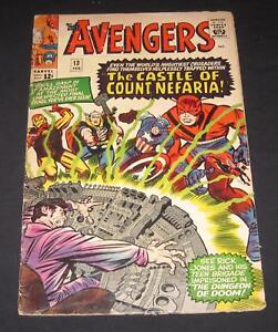AVENGERS #13 G (2.0) 12¢ cover Marvel Comic