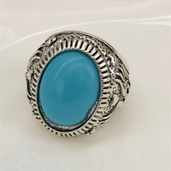 Hot Vintage woman 316L Stainless Steel Vogue Design Mini Stone Ring Size 10  ***
