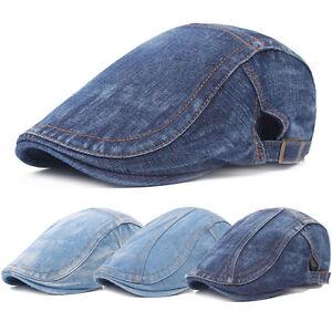 Hommes-Bleu-Jean-A-Culmine-Ivy-Cap-Golf-Driving-Flat-Taxi-Newsboy-beret-chapeau-CS223