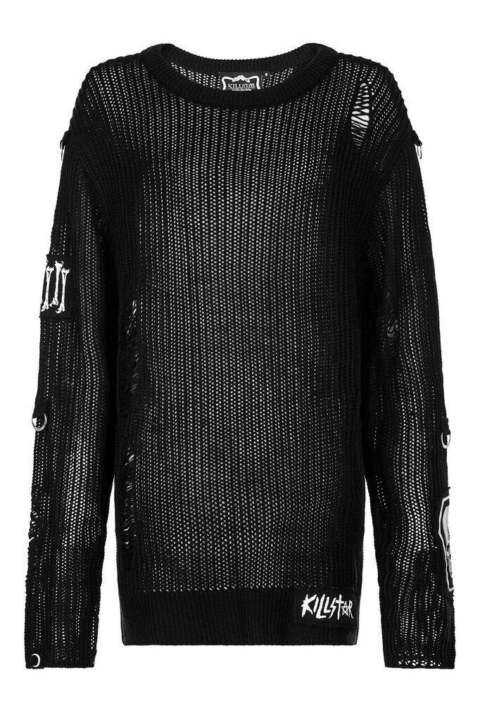 NEW KILLSTAR - Haight You Knit Sweater  Herren Jumper Gothic Goth Punk Größe Small