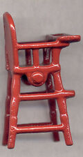 AUTHENTIC OLD KILGORE TOY CO BABY HIGH CHAIR CAST IRON RED * FREE SHIP * CI74