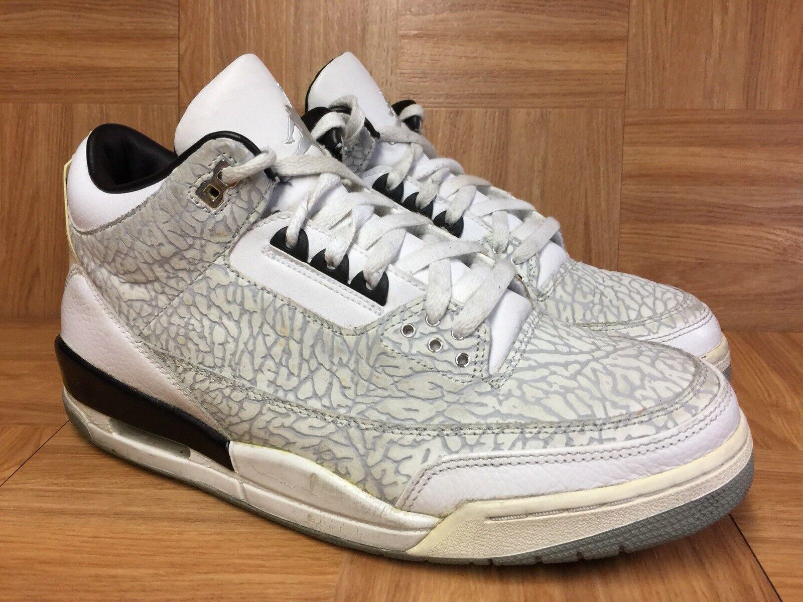 efc1090580659b Vintage Nike Air Jordan 3 III III III Flip Retro Silver Sz 12 Men s shoes  315767