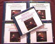 Günter WAND: SCHUBERT Symphony 1-9 Gunter Köln RCA 5CD Sinfonien Kölner Rundfunk